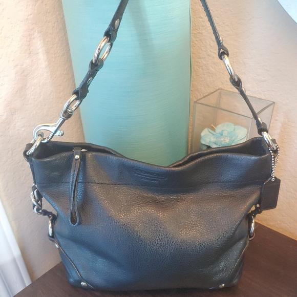 Coach Handbags - COACH Carly Black Leather Hobo Handbag Purse 15251